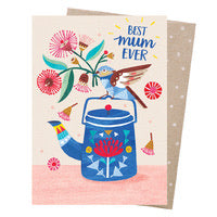 Earth Greetings Card - Best Mum Teatime