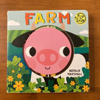 Marshall, Natalie - Farm Flip and Spin (Board Book)