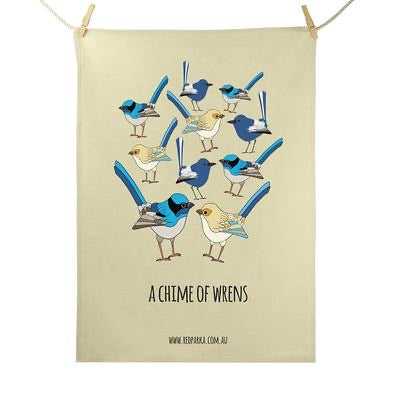 Red Parka Tea Towel - Chime of Wrens