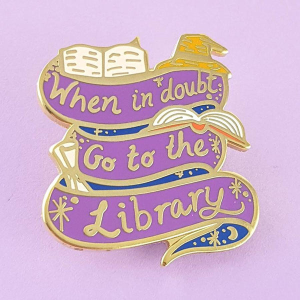 Jubly Umph Lapel Pin - When In Doubt Go to the Library