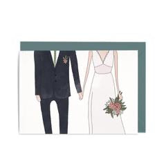 In the Daylight Greeting Card - Wedding Man & Woman