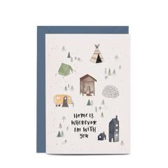 In the Daylight Greeting Card - Home is Wherever
