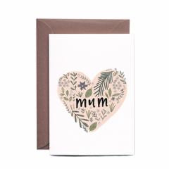 In the Daylight Greeting Card - Mother's Day Floral Heart