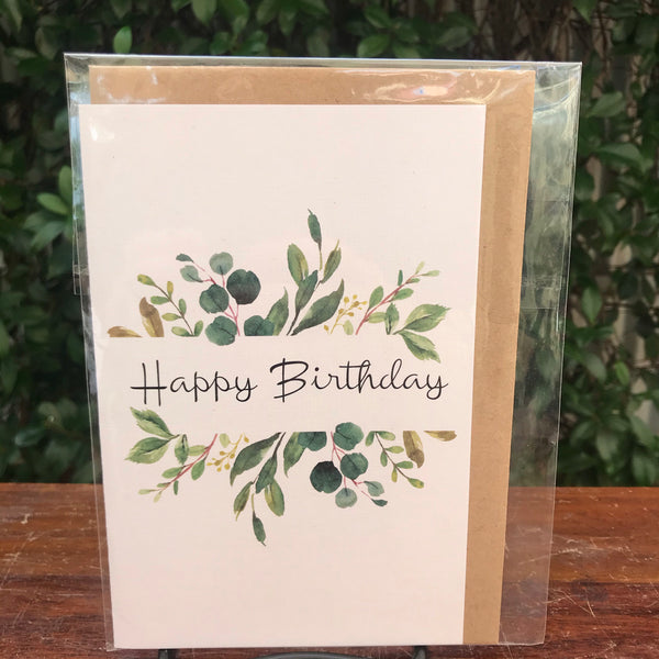 Design Junkie - Green Leaf Happy Birthday