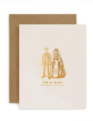 Bespoke Letterpress - Mr and Mrs Vintage
