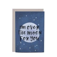 In the Daylight Greeting Card - Over the Moon