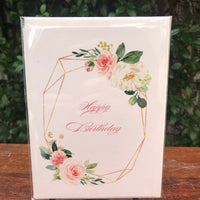 Design Junkie - Floral Happy Birthday Pink