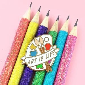 Jubly Umph Lapel Pin - Art is Life Palette