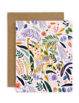 Bespoke Letterpress - Jungle Happy Happy Birthday