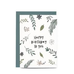 In the Daylight Greeting Card - Botanic Birthday