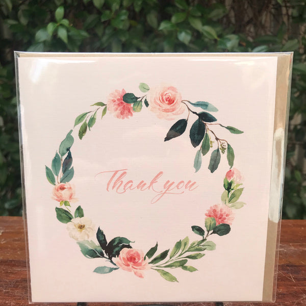 Design Junkie - Floral Thank You