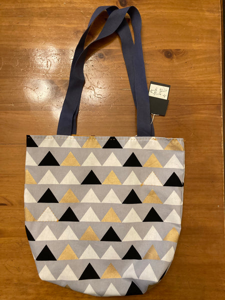 Mary Myrtle Tote Bag - Triangles