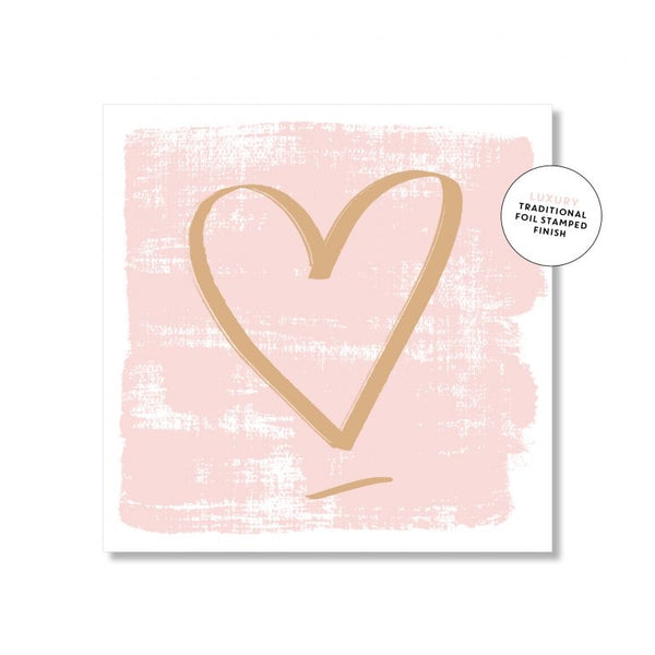 Just Smitten Mini Card - Blush Brush Heart