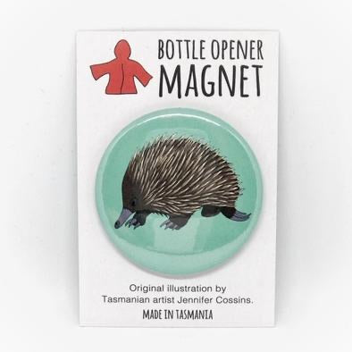 Red Parka Bottle Opener Magnet - Echidna