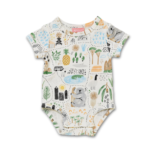 Halcyon Nights Short Sleeve Bodysuit - Big Adventures