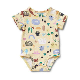 Halcyon Nights Short Sleeve Bodysuit - Sun City