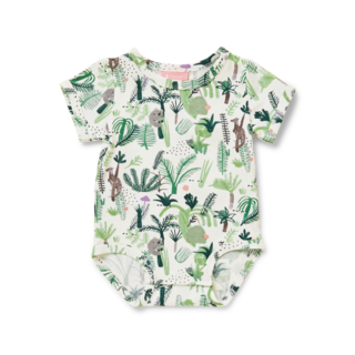 Halcyon Nights Short Sleeve Bodysuit - Fern Gully
