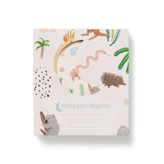 Halcyon Nights Gift Pack - Outback Dreamers (Baby Hat & Short Sleeve Bodysuit)