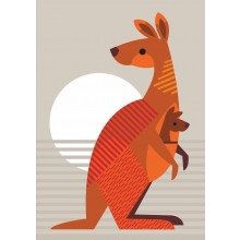 Greeting Card - Kangaroo