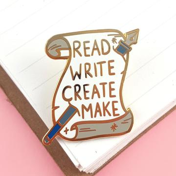 Jubly Umph Lapel Pin - Read Write Create Make