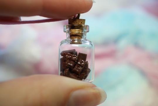 Picnic for Tea Treat Jar Necklace - Chocolate Bars