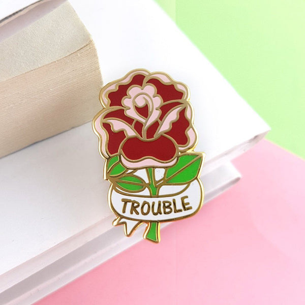 Jubly Umph Lapel Pin - Here Comes Trouble Rose