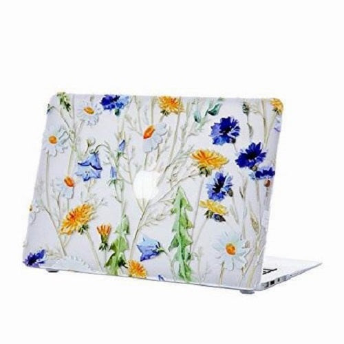 "Husa Macbook Air 2018 - 2020, 13"" Retina, Transparenta Model floral, Tip Carcasa"