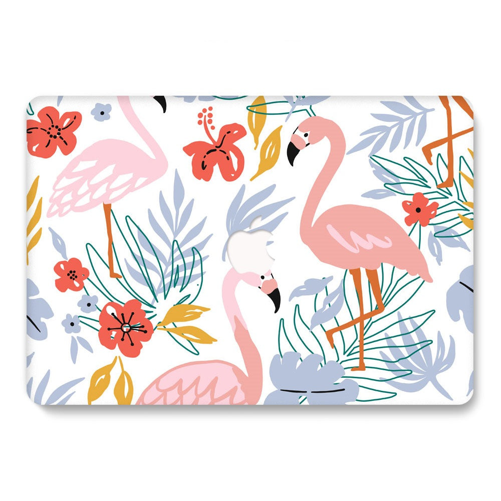 "Husa Macbook Pro, 13"", Model tropical flamingo, Tip Carcasa"