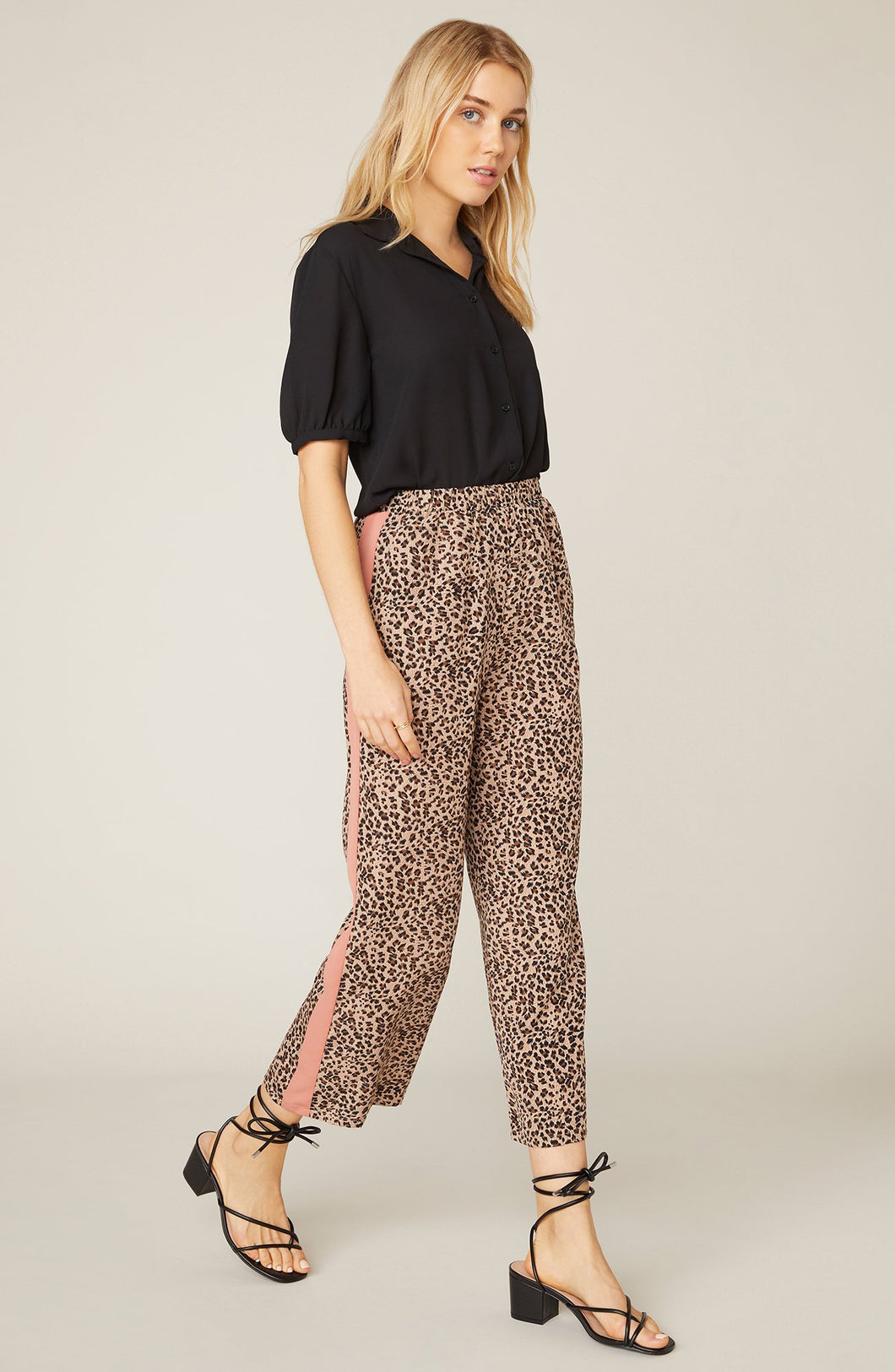 Leopard Cropped Pant