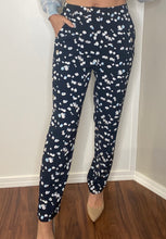 Load image into Gallery viewer, Navy Floral Trouser