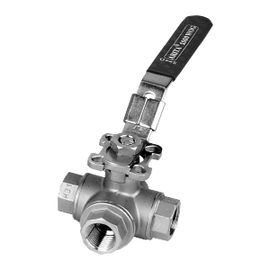 ARITA Three Way Ball Valve Stainless Steel 1000PSI - Unimech