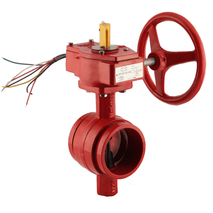 ARITA UL/FM Fire Protection Butterfly Valve 300PSI Groove Type - Unimech
