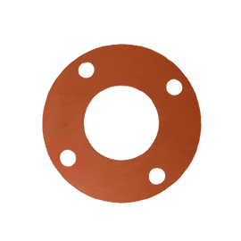 Gasket Flange Pack w/ Red Rubber FULL FACE Gaskets 1/8'' and ZINC PLATED Hardware