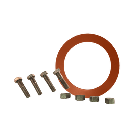 Gasket Flange Pack w/ Red Rubber RING Gaskets 1/8'' and ZINC PLATED Hardware