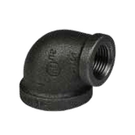 90 Degree Reducing Elbow Threaded Ductile Iron
