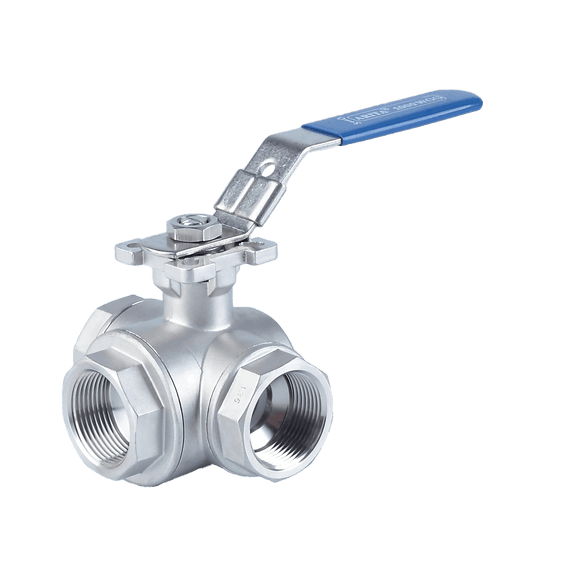 ARITA Three Way Ball Valve Stainless Steel 1000PSI