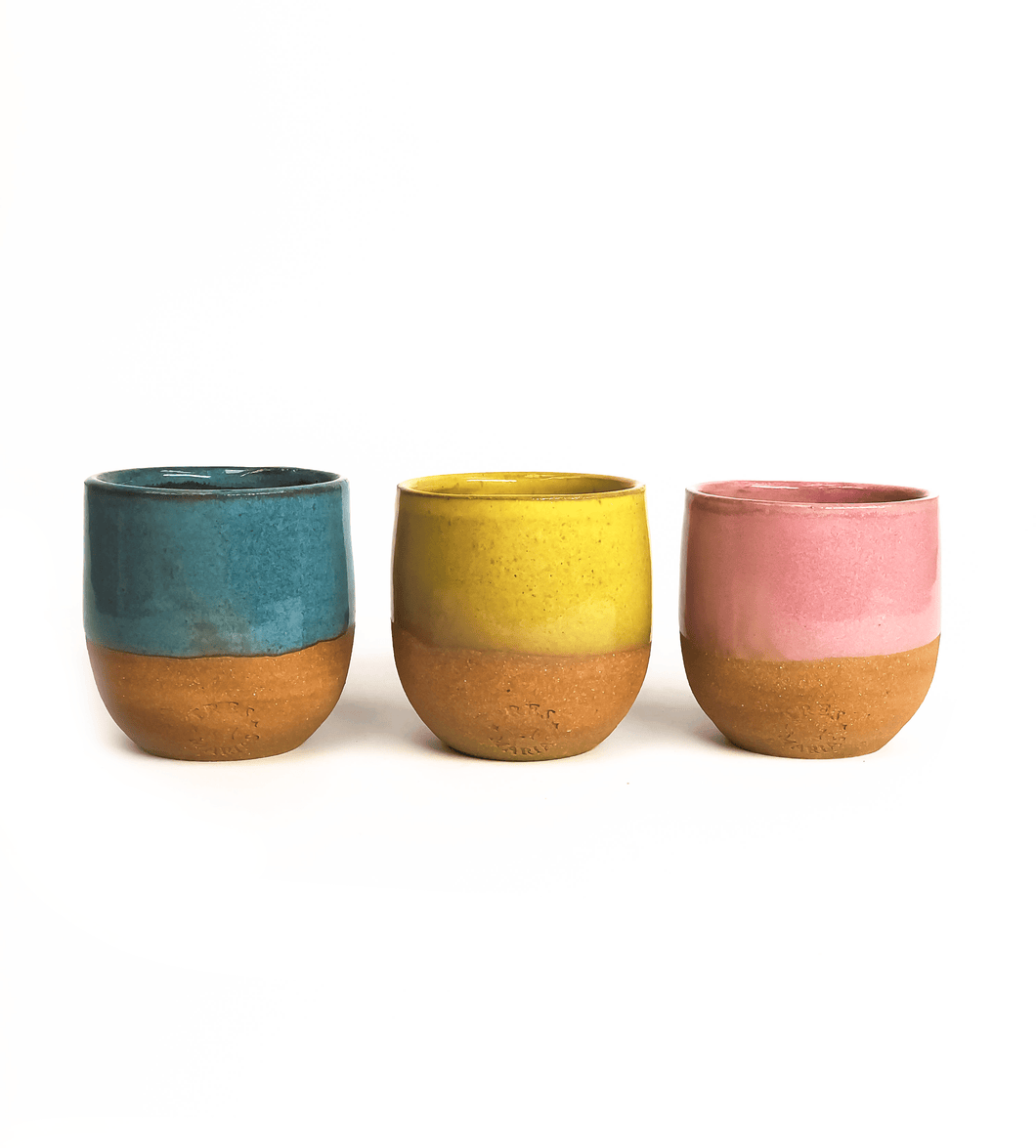 Tres Marias Hand Made Ceramic Cups - Espresso, Piccolo and Black Coffee - Tres Marias Coffee Company