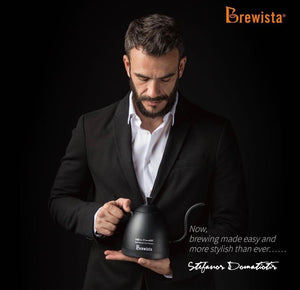 Três Marias Brewing Equipments - Brewista Artisan 600mL Gooseneck Variable Temperature Kettle Stefanos Signature Limited Edition