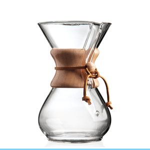 Três Marias Brewing - Chemex 6 Cups, Pour-Over Glass Coffeemaker - Tres Marias Coffee Company