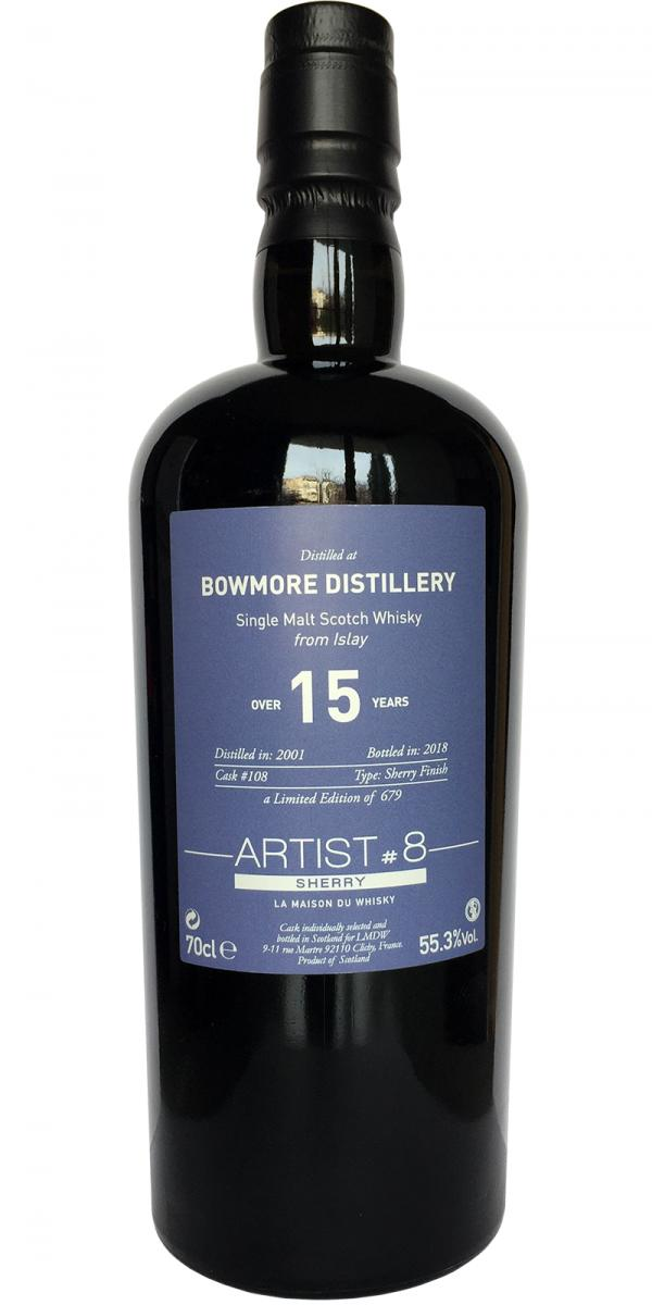BOWMORE 2001 Over 15 Years Sherry 8th Edition