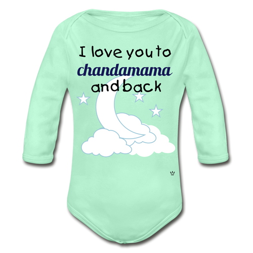Chandamama - Organic Long Sleeve Baby Bodysuit - light mint