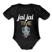Load image into Gallery viewer, Jai Jai Time - Organic Short Sleeve Baby Bodysuit - black