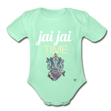 Load image into Gallery viewer, Jai Jai Time - Organic Short Sleeve Baby Bodysuit - light mint