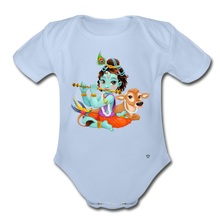 Load image into Gallery viewer, Krishna - Organic Short Sleeve Baby Bodysuit - sky