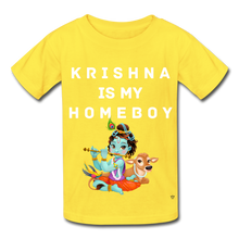 Load image into Gallery viewer, Krishna is my Homeboy - Youth Tee - yellow