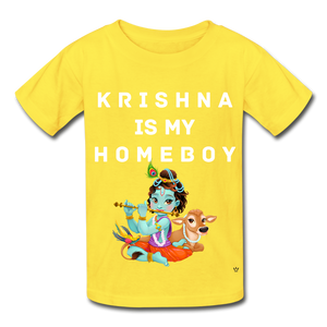 Krishna is my Homeboy - Youth Tee - yellow