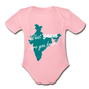 What gaam are you from? Organic Short Sleeve Baby Bodysuit - light pink