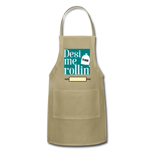 Desi Me Rollin' - Adjustable Apron - khaki
