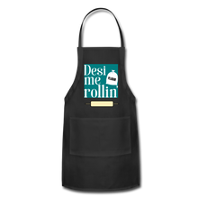 Load image into Gallery viewer, Desi Me Rollin' - Adjustable Apron - black