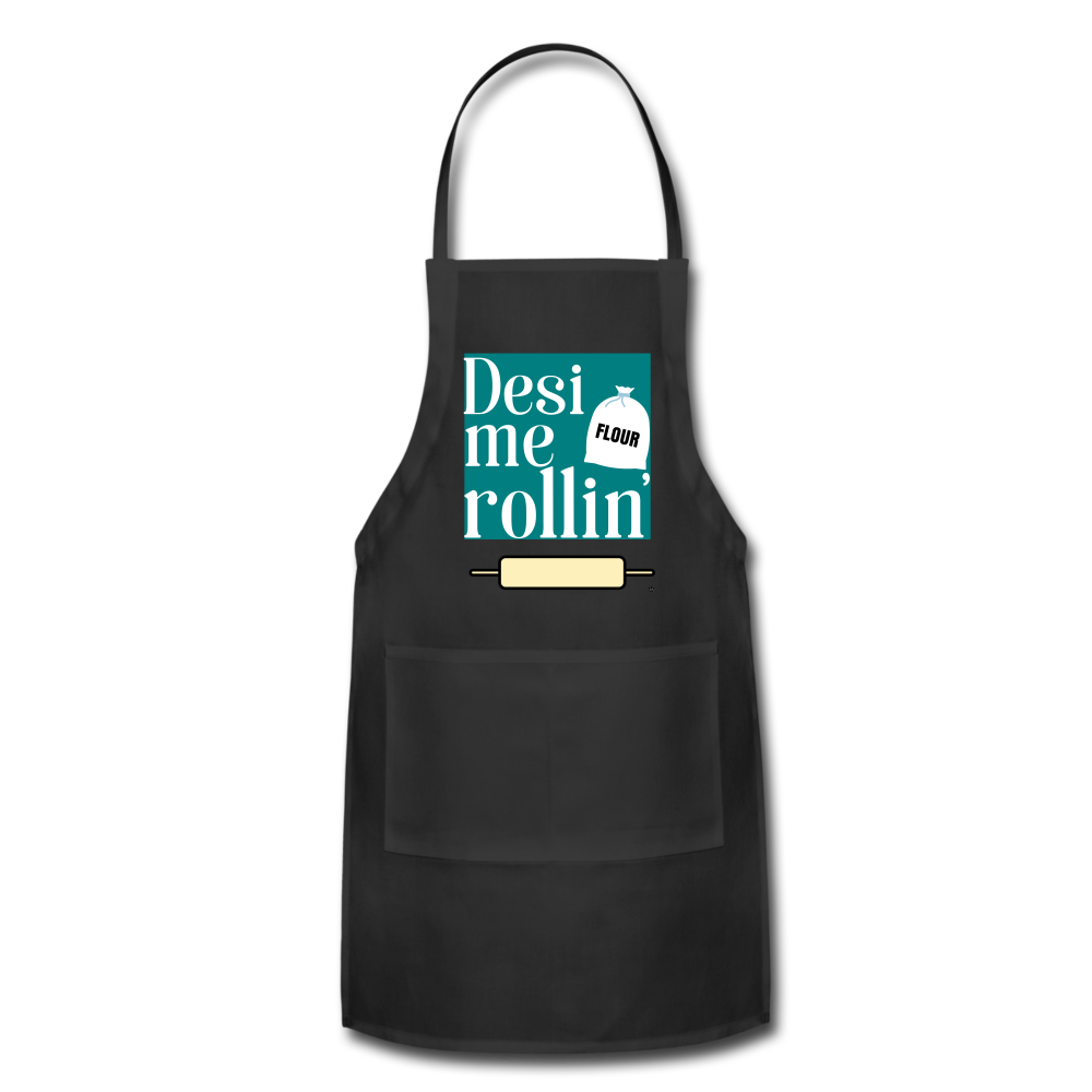 Desi Me Rollin' - Adjustable Apron - black